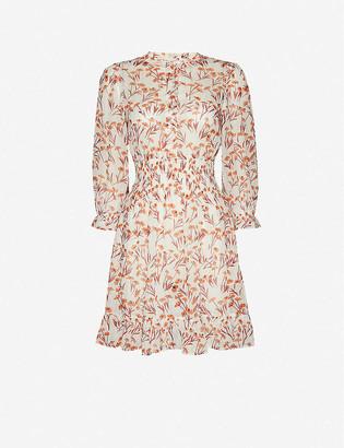 Maje Rythona floral-print woven mini dress