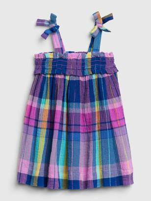 Gap Baby Plaid Tied Dress