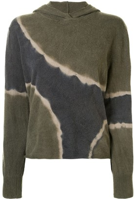 Raquel Allegra Tie-Dye Relaxed-Fit Hoodie