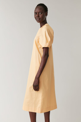 Cos Dress With Puff Sleeves