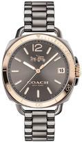 Coach Tatum Grey Dial Rose Tone Detail Grey Stainless Steel Bracelet Ladies Watch