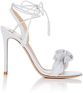 Gianvito Rossi Women's Flora Leather Ankle-Tie Sandals-WHITE