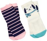 Gymboree Dog & Stripe Socks