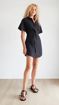 Alexander Wang Crisp Poplin Mini Shirt Dress