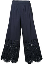 Muveil cropped trousers - women - Cotton - 36