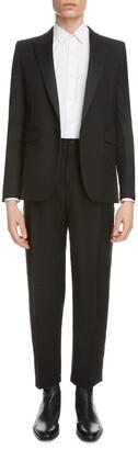 Saint Laurent Peaked Lapel Wool Tuxedo Jacket
