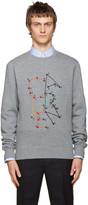 Carven Grey Embroidered Logo Sweatshirt