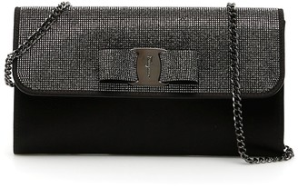 Salvatore Ferragamo Embellished Vara Bow Clutch