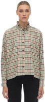 Etoile Isabel Marant ILARIA PLAID COTTON FLANNEL SHIRT