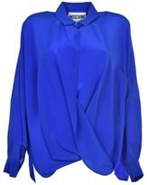 Moschino Draped Silk Shirt