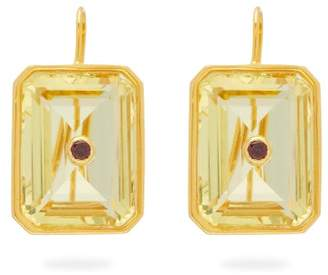 Lizzie Fortunato Tile Citrine & Gold-plated Drop Earrings - Womens - Yellow