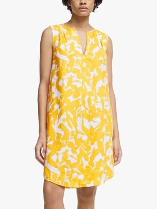John Lewis & Partners Abstract Floral V-Neck Dress, Multi