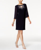 MSK Embellished Keyhole Starburst Dress