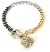 Juicy Couture Outlet - OMBRE HEART & CHAIN BRACELET