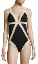Flora Nikrooz Lace-Trimmed Body Suit
