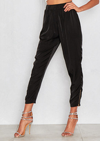 Missy Empire Marini Black Loose Drop Zip Detail Joggers