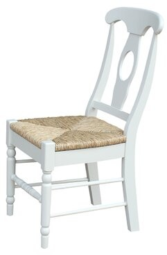 August Grove Audette Empire Solid Wood Dining Chair August Grove Upholstery Color: Rush Seat, Frame Color: Unfinished