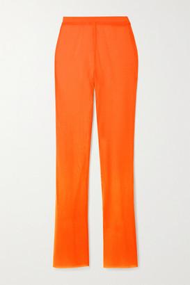 LAPOINTE - Neon Stretch-mesh Flared Pants - Orange
