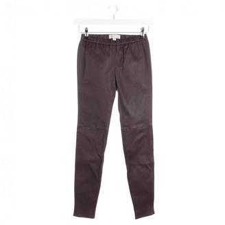 Michael Kors Purple Leather Trousers