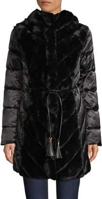 Karl Lagerfeld Paris Faux Fur & Down Alternative Coat