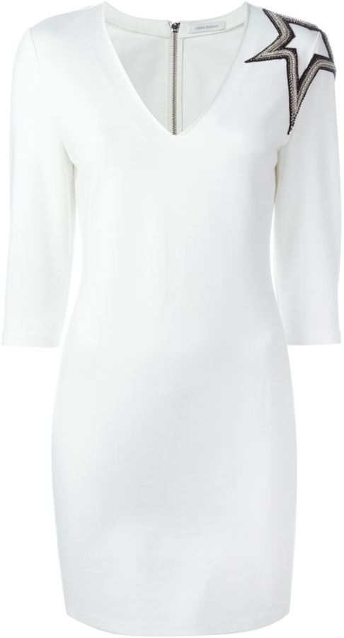 Pierre Balmain star appliqué fitted dress