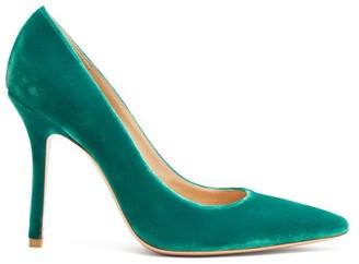 Gianvito Rossi Square-toe 105 Velvet Pumps - Womens - Green