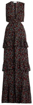 A.L.C. Brie floral-print cut-out silk maxi dress