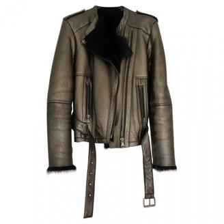 Gerard Darel Metallic Leather Coat for Women