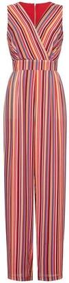 Yumi Stripe Print Wrap Jumpsuit