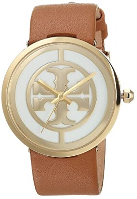 Tory Burch Reva Leather Watch (Light Brown - TBW4020) Watches