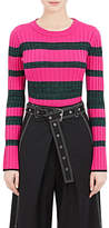 Proenza Schouler Women's Striped Rib-Knit Wool-Silk-Cashmere Crop Sweater