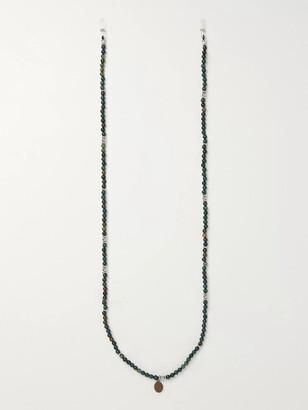 Mikia Multi-Stone, Rubber And Silk Sunglasses Chain