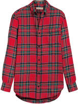 Burberry tartan wool shirt