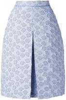 Odeeh inverted pleat textured skirt