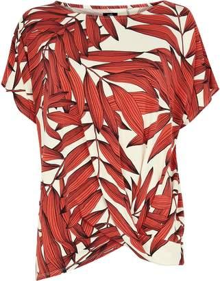 Wallis Rust Palm Print T-Shirt