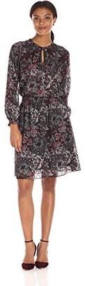Jones New York Women's Bohemian Paisley Peasant Dress