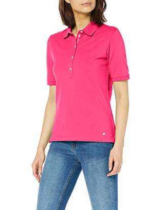 Brax Women's Cleo Finest Piqué Stretch Poloshirt Uni Polo Shirt, (Summer Red 43), (Size: 44)