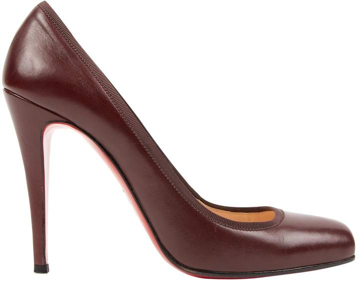 cheap for discount 98a4c 9dae5 Burgundy Leather Heels