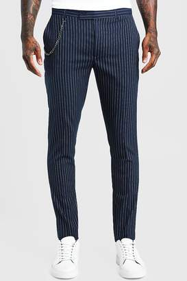 boohoo Stripe Chain Detail Smart Pants
