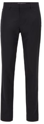 Slim-fit pants in water-repellent technical-stretch fabric