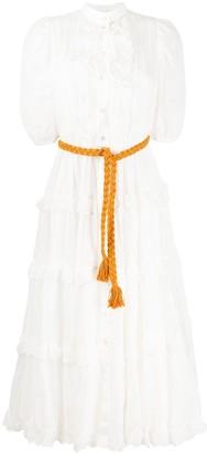 Zimmermann Amelie scallop frill midi dress