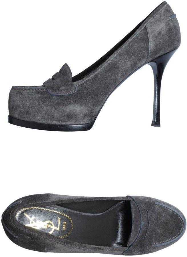 Saint Laurent Moccasins with heel