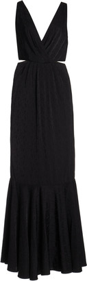 Johanna Ortiz Exclusive Cutout Silk-Jacquard Gown