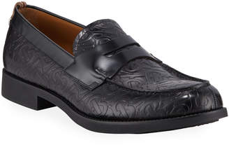 Burberry Men's Emile TB-Logo Embossed Leather Penny Loafers