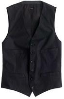 Ludlow Suit Vest In Italian Cotton Piqué