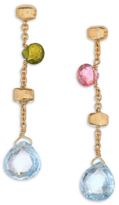 Marco Bicego Paradise Semi-Precious Multi-Stone & 18K Yellow Gold Drop Earrings