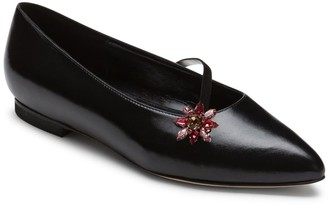 Alexis Isabel Anoki Black Leather Slippers