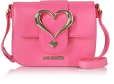 Love Moschino Eco Leather Crossbody Bag w/Heart Buckle