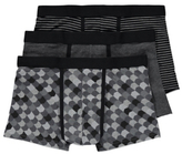 George 3 Pack Hipster Trunks