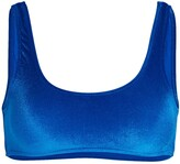 Thumbnail for your product : Frankie's Bikinis Connor Velvet Bikini Top